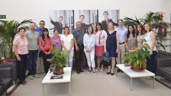Miembros del proyecto iTide junto con profesionales de Prodis durante su visita a la Fundación.