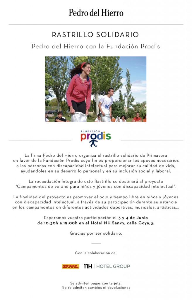 Rastrillo Solidario Prodis
